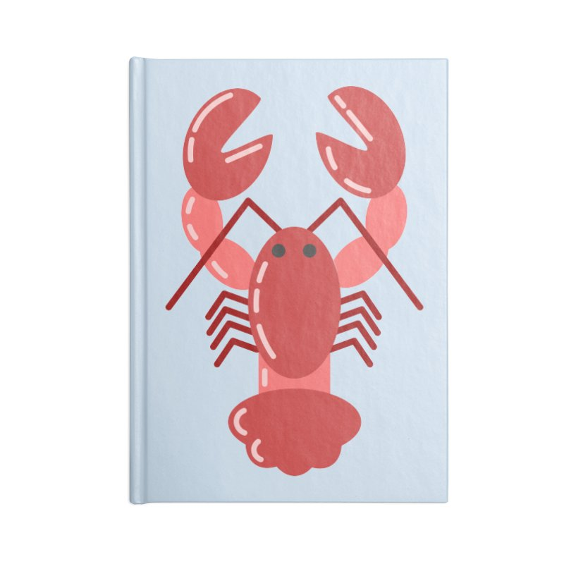 Squishy Lobster Accessories Notebook by TYNICKO Random Randoms Shop