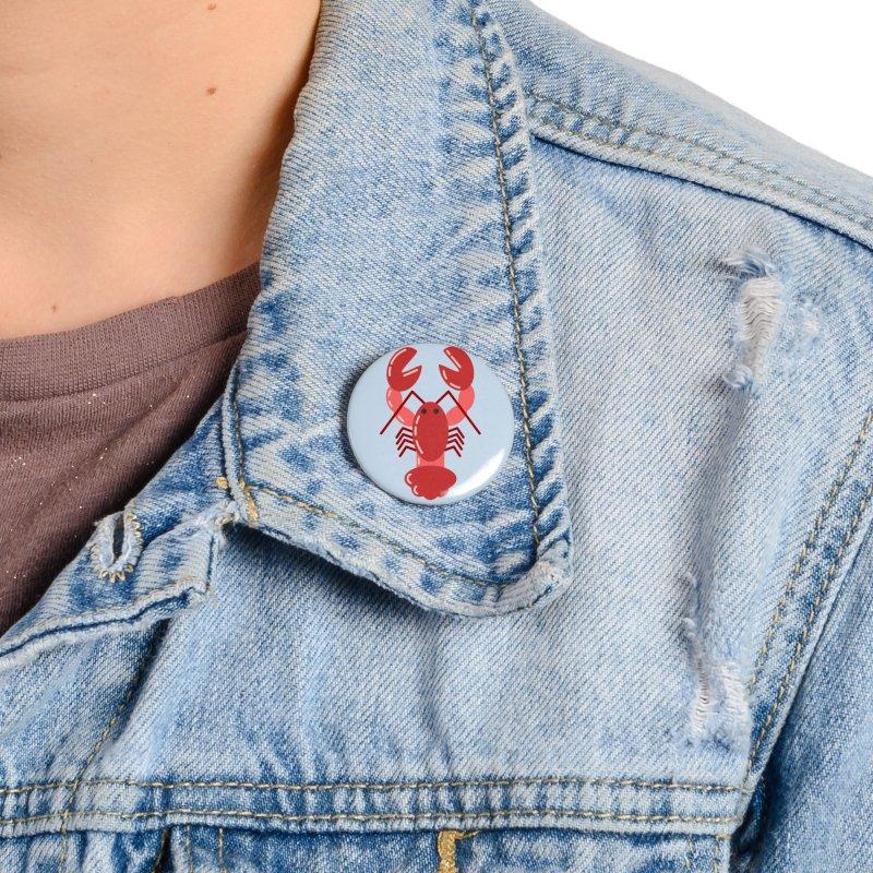 Squishy Lobster Accessories Button by TYNICKO Random Randoms Shop
