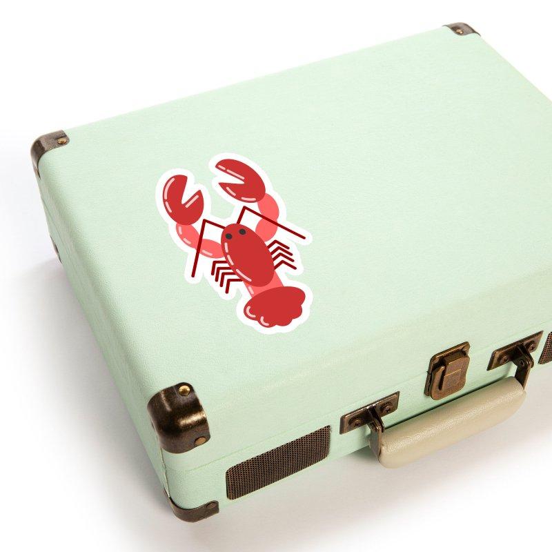 Squishy Lobster Accessories Sticker by TYNICKO Random Randoms Shop