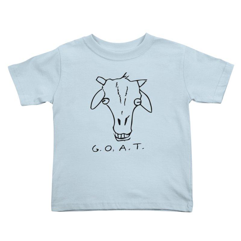 G.O.A.T. Kids Toddler T-Shirt by TYNICKO Random Randoms Shop