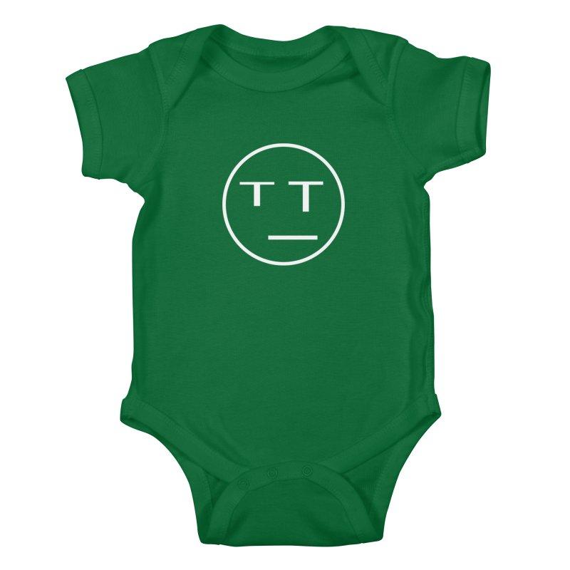 Mood Blah (White) Kids Baby Bodysuit by TYNICKO Random Randoms Shop