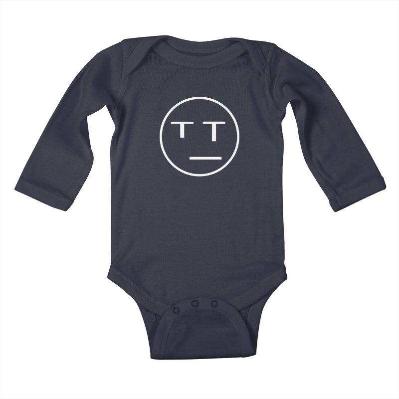 Mood Blah (White) Kids Baby Longsleeve Bodysuit by TYNICKO Random Randoms Shop