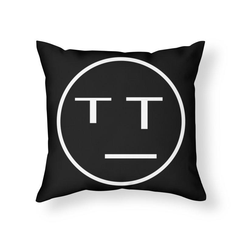 Mood Blah (White) Home Throw Pillow by TYNICKO Random Randoms Shop