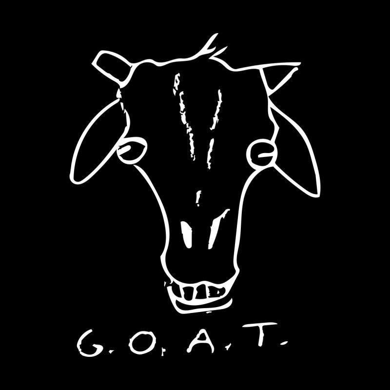 G.O.A.T. (white) Men's Longsleeve T-Shirt by TYNICKO Random Randoms Shop