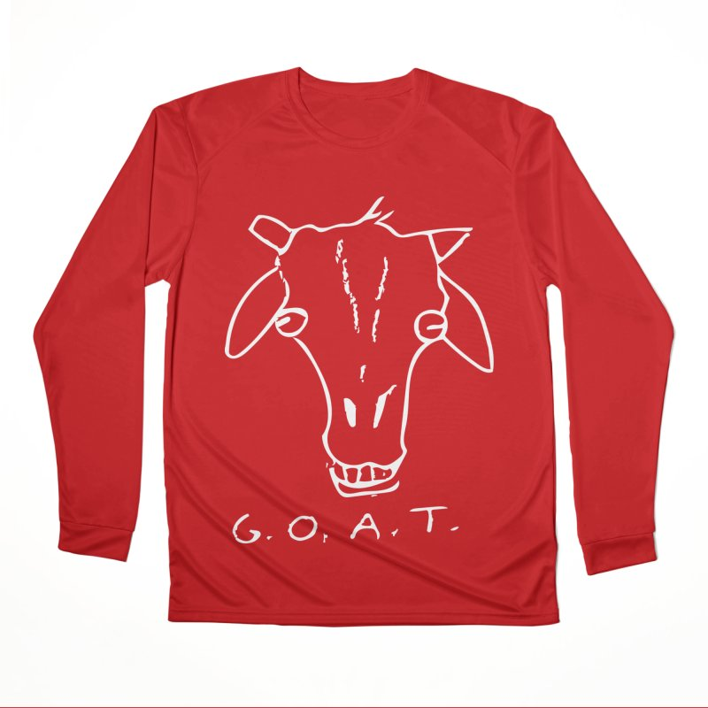 G.O.A.T. (white) Men's Longsleeve T-Shirt by TYNICKO Random Randoms Shop