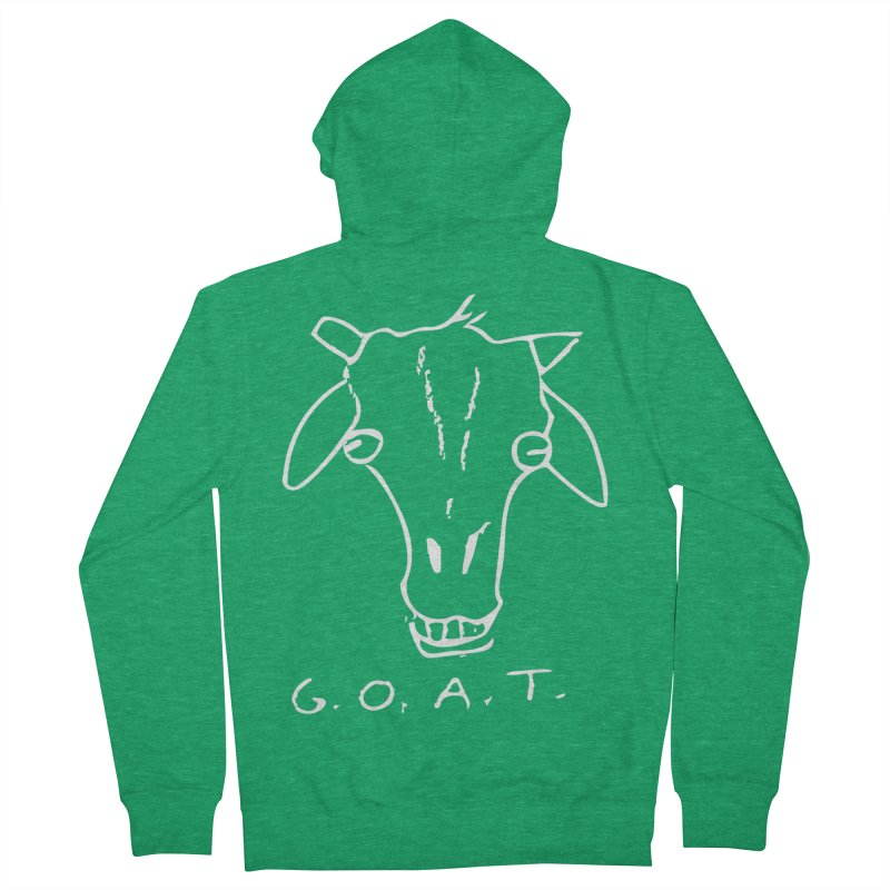 G.O.A.T. (white) Men's Zip-Up Hoody by TYNICKO Random Randoms Shop