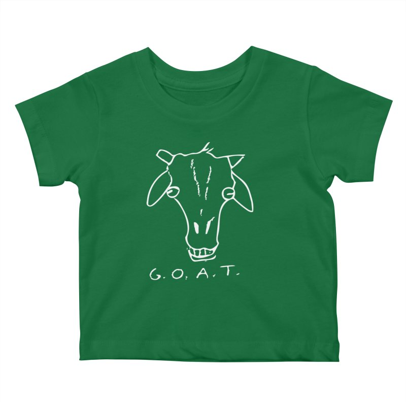 G.O.A.T. (white) Kids Baby T-Shirt by TYNICKO Random Randoms Shop