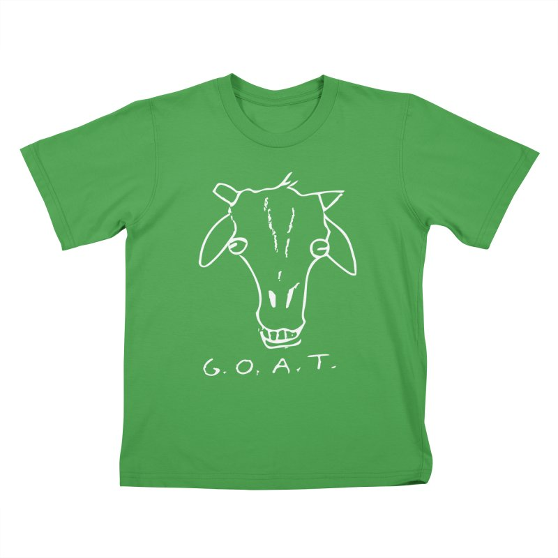 G.O.A.T. (white) Kids T-Shirt by TYNICKO Random Randoms Shop