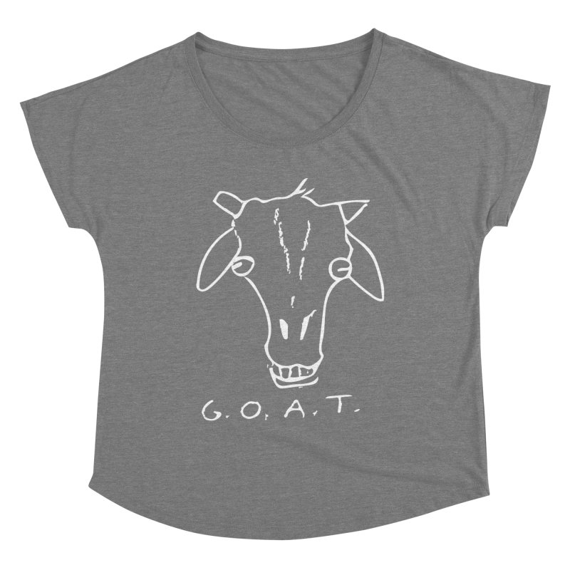 G.O.A.T. (white) Women's Scoop Neck by TYNICKO Random Randoms Shop