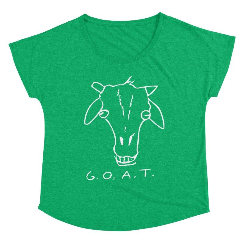 G.O.A.T. (white) Women's Scoop Neck by TYNICKO Random Randoms Shop