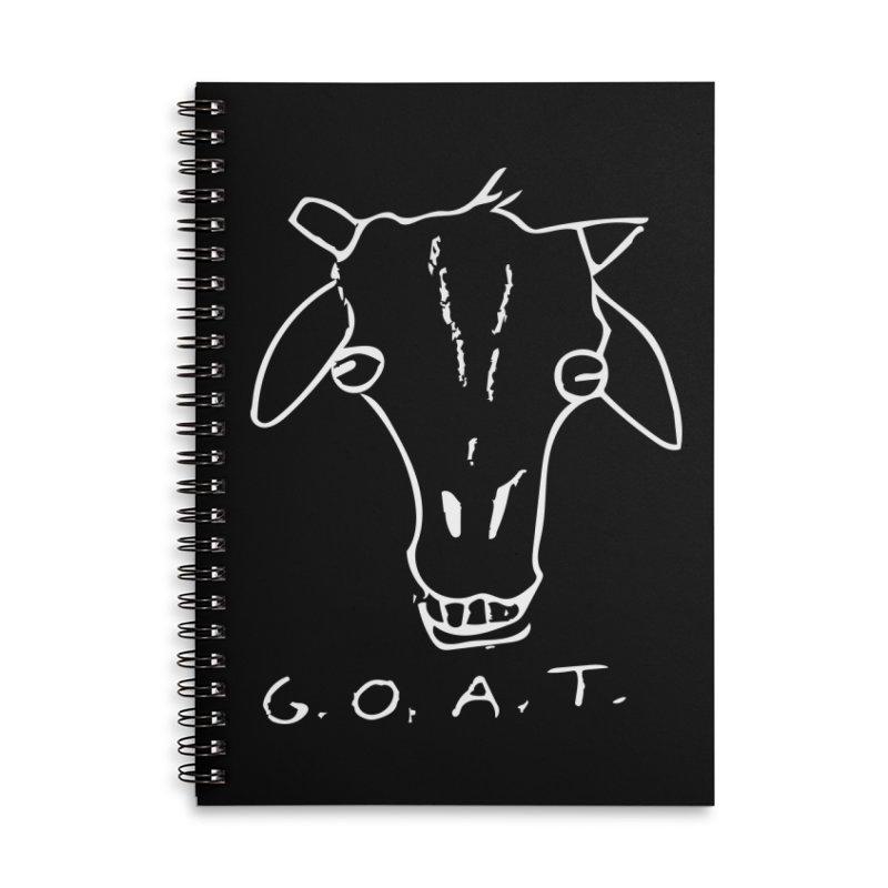 G.O.A.T. (white) Accessories Notebook by TYNICKO Random Randoms Shop
