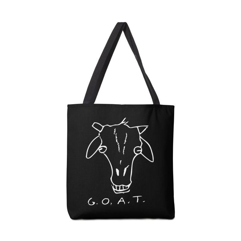 G.O.A.T. (white) Accessories Bag by TYNICKO Random Randoms Shop