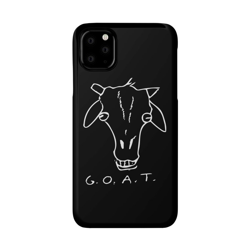 G.O.A.T. (white) Accessories Phone Case by TYNICKO Random Randoms Shop