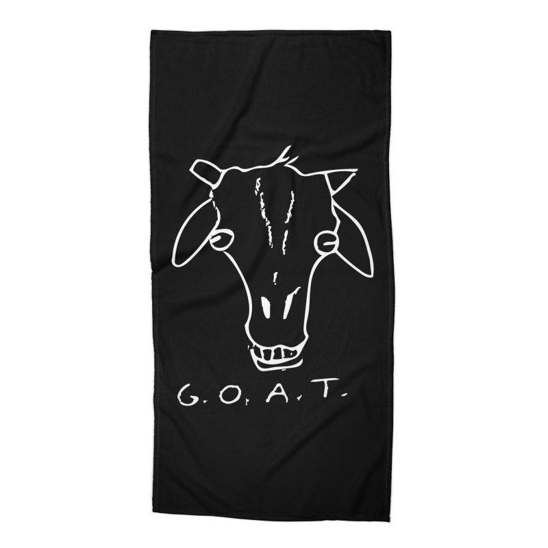 G.O.A.T. (white) Accessories Beach Towel by TYNICKO Random Randoms Shop