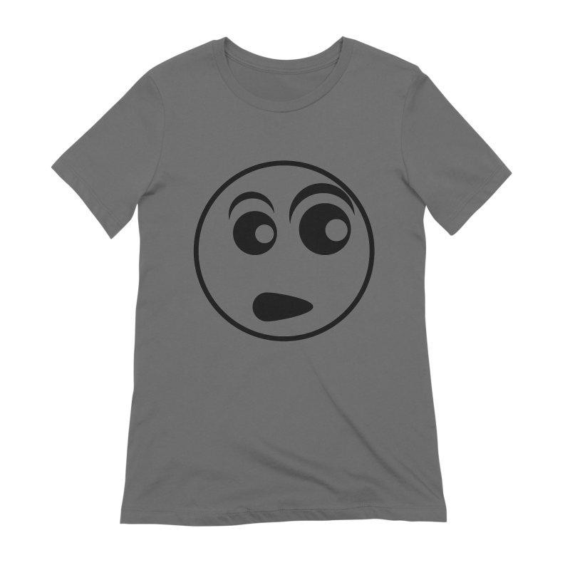Uh What? (Black) Women's T-Shirt by TYNICKO Random Randoms Shop