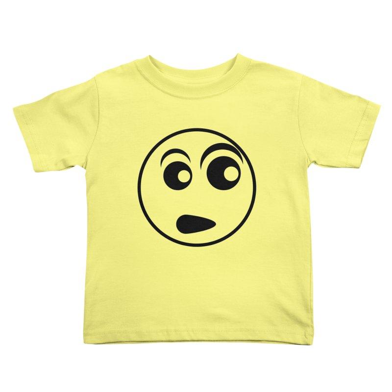 Uh What? (Black) Kids Toddler T-Shirt by TYNICKO Random Randoms Shop