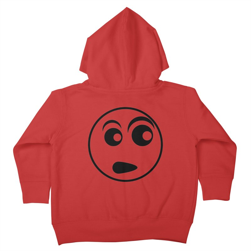 Uh What? (Black) Kids Toddler Zip-Up Hoody by TYNICKO Random Randoms Shop