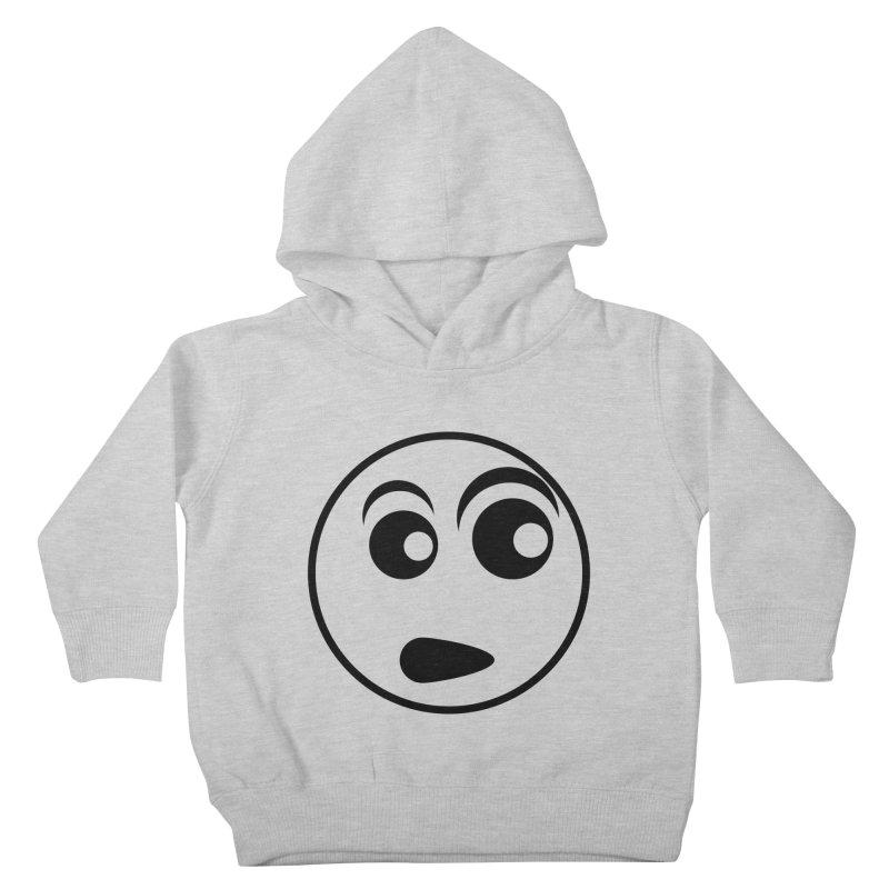 Uh What? (Black) Kids Toddler Pullover Hoody by TYNICKO Random Randoms Shop