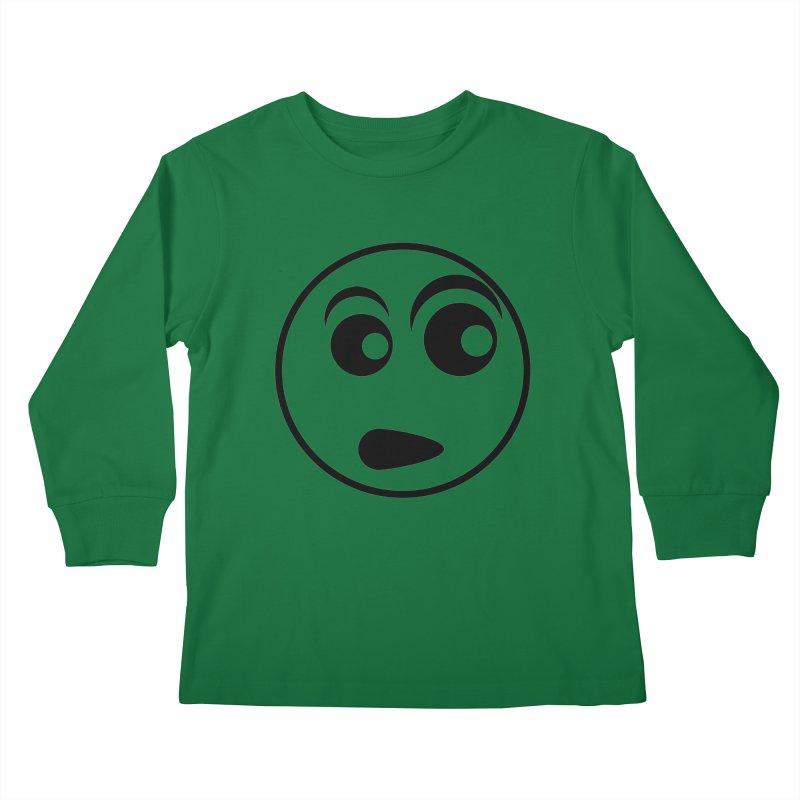 Uh What? (Black) Kids Longsleeve T-Shirt by TYNICKO Random Randoms Shop