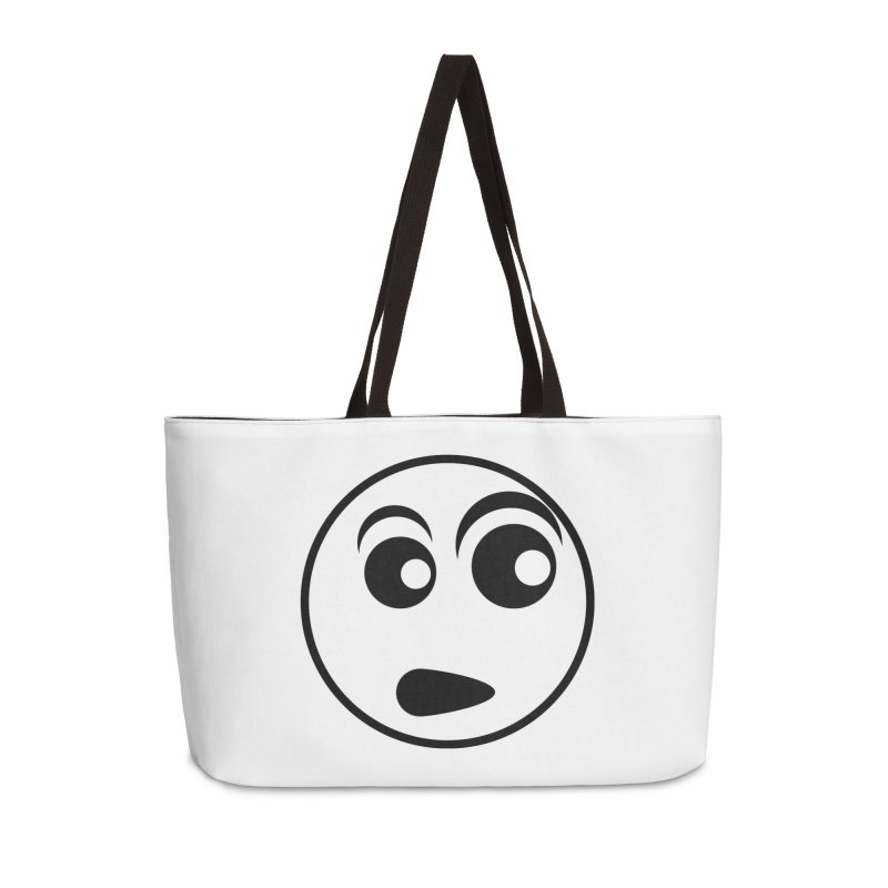 Uh What? (Black) Accessories Bag by TYNICKO Random Randoms Shop