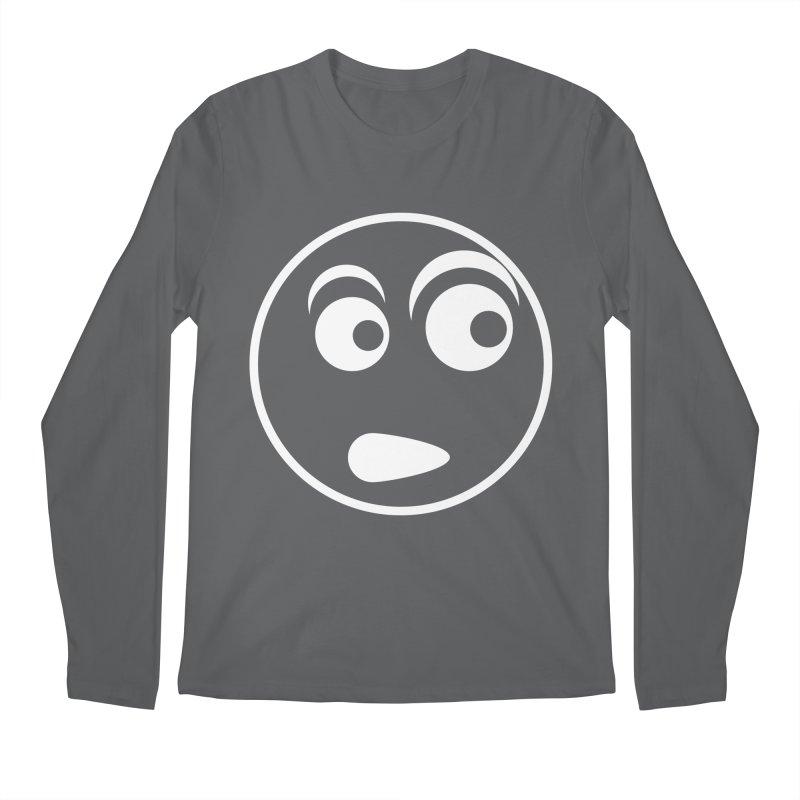Uh What? (White) Men's Longsleeve T-Shirt by TYNICKO Random Randoms Shop