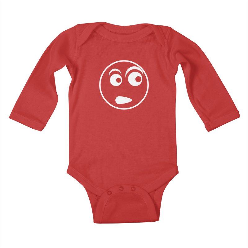 Uh What? (White) Kids Baby Longsleeve Bodysuit by TYNICKO Random Randoms Shop