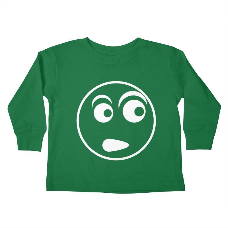 Uh What? (White) Kids Toddler Longsleeve T-Shirt by TYNICKO Random Randoms Shop