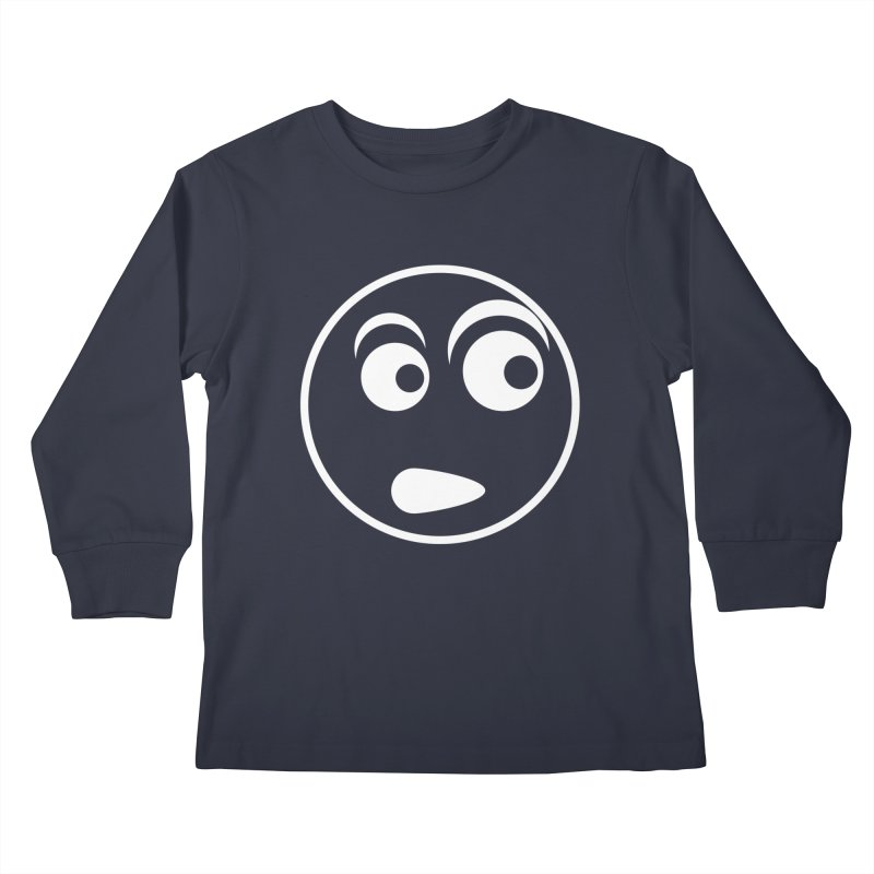 Uh What? (White) Kids Longsleeve T-Shirt by TYNICKO Random Randoms Shop