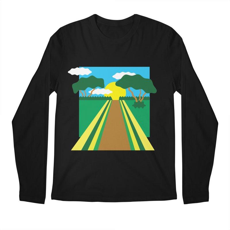 Country Path Men's Longsleeve T-Shirt by TYNICKO Random Randoms Shop