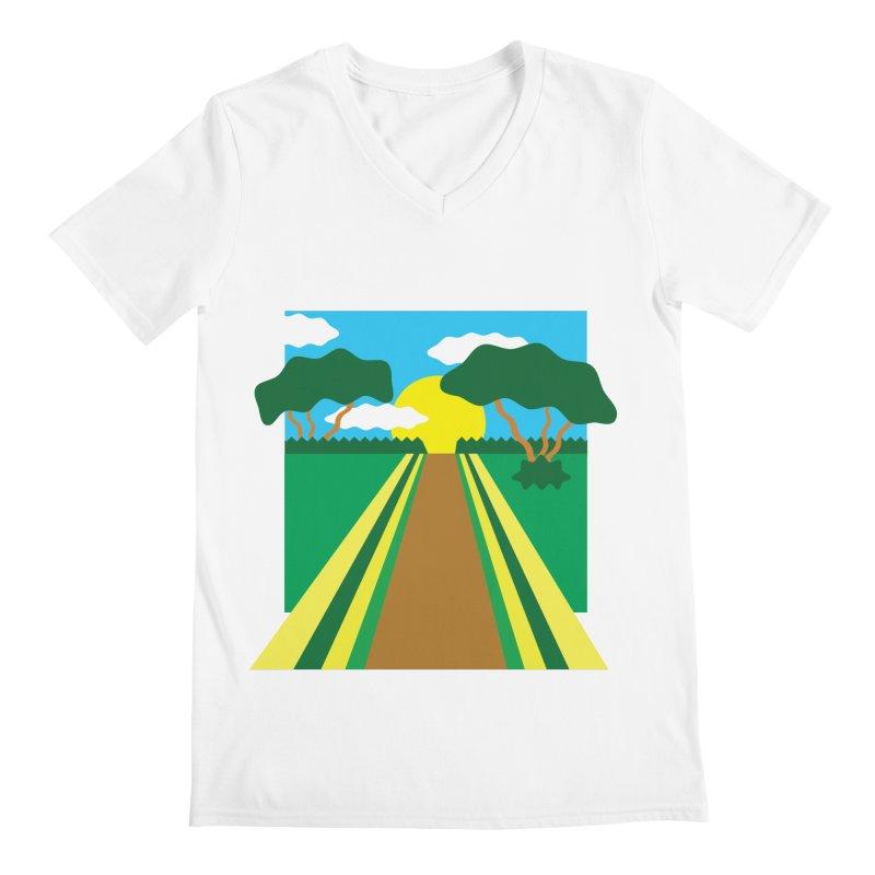 Country Path Men's V-Neck by TYNICKO Random Randoms Shop
