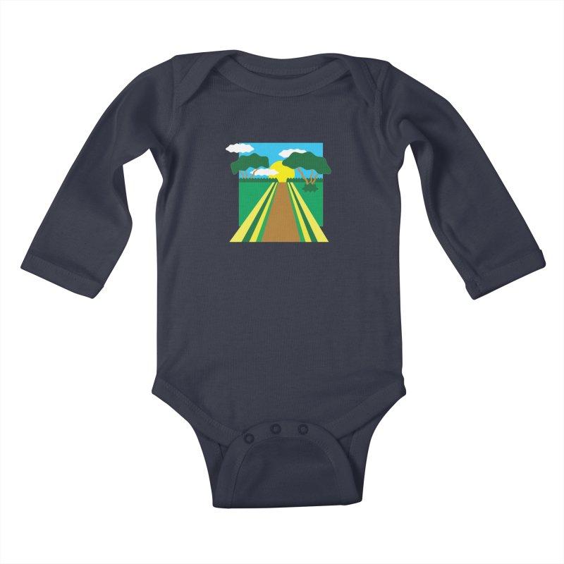 Country Path Kids Baby Longsleeve Bodysuit by TYNICKO Random Randoms Shop