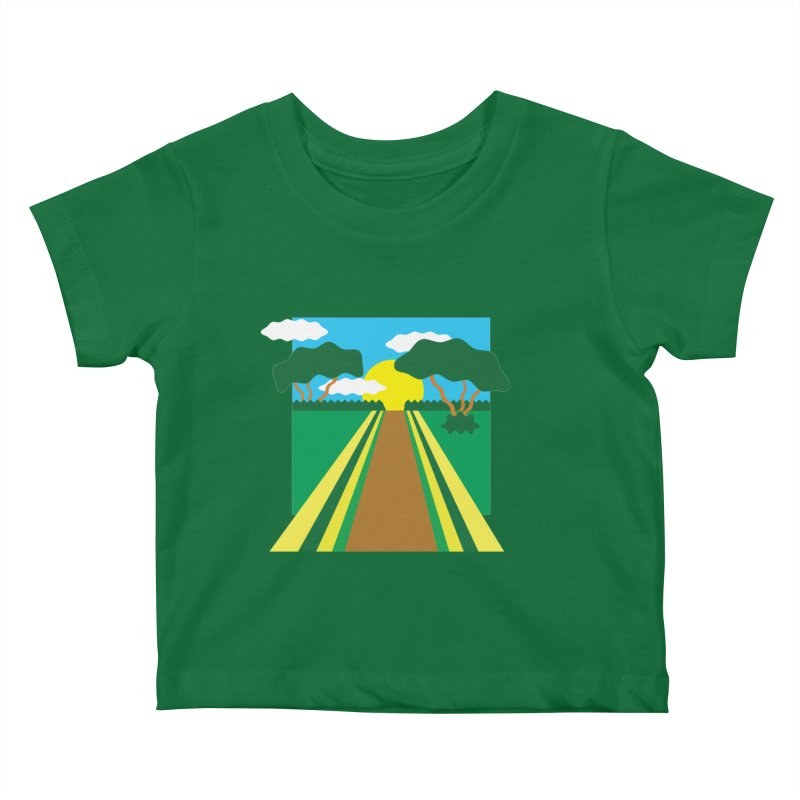 Country Path Kids Baby T-Shirt by TYNICKO Random Randoms Shop