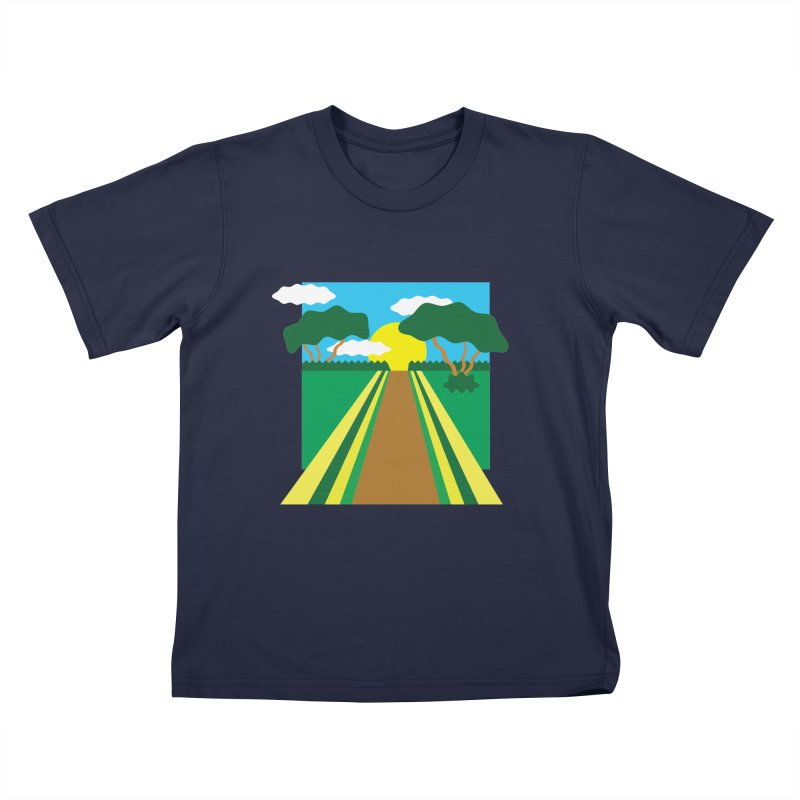 Country Path Kids T-Shirt by TYNICKO Random Randoms Shop