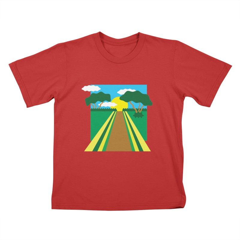 Country Path Kids T-Shirt by TYNICKO Random Randoms Shop