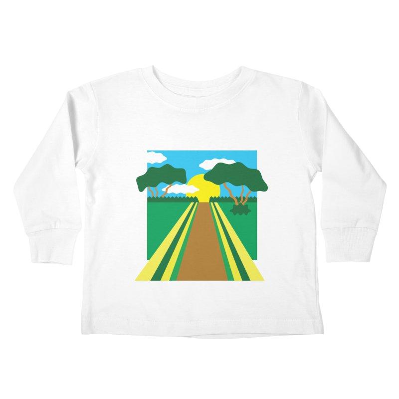 Country Path Kids Toddler Longsleeve T-Shirt by TYNICKO Random Randoms Shop