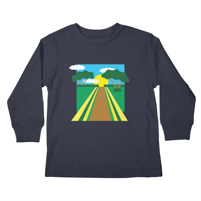 Country Path Kids Longsleeve T-Shirt by TYNICKO Random Randoms Shop