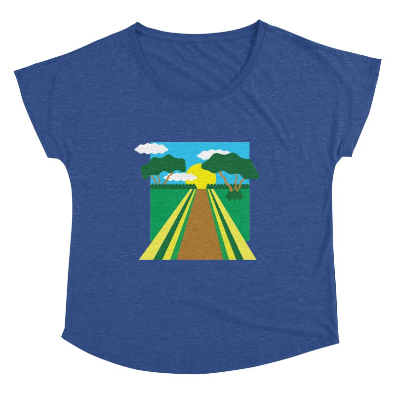 Country Path Women's Scoop Neck by TYNICKO Random Randoms Shop