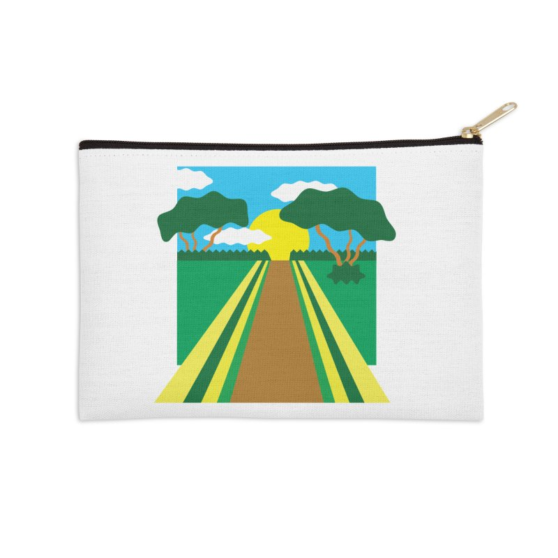 Country Path Accessories Zip Pouch by TYNICKO Random Randoms Shop