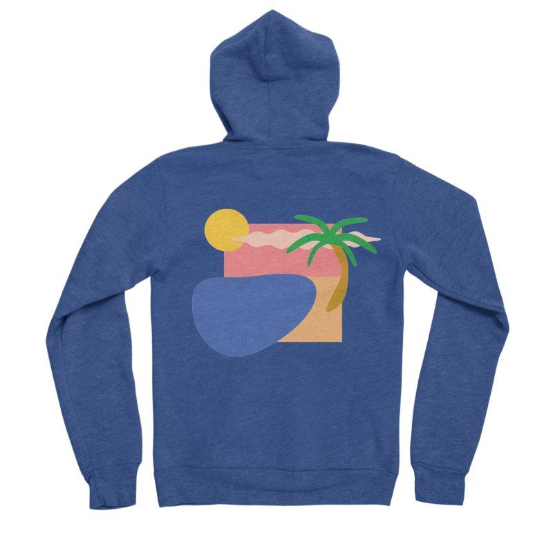Beach Men's Zip-Up Hoody by TYNICKO Random Randoms Shop