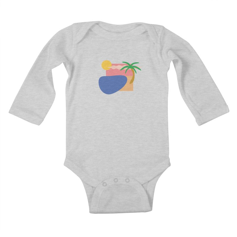 Beach Kids Baby Longsleeve Bodysuit by TYNICKO Random Randoms Shop