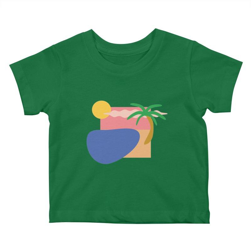 Beach Kids Baby T-Shirt by TYNICKO Random Randoms Shop