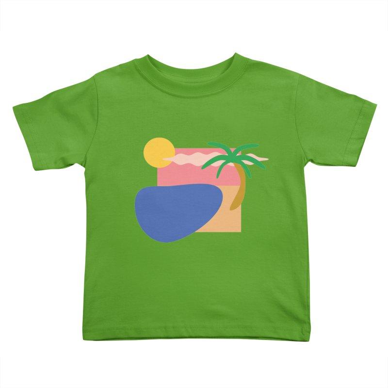 Beach Kids Toddler T-Shirt by TYNICKO Random Randoms Shop