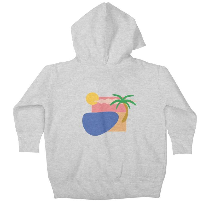 Beach Kids Baby Zip-Up Hoody by TYNICKO Random Randoms Shop
