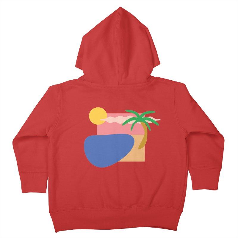 Beach Kids Toddler Zip-Up Hoody by TYNICKO Random Randoms Shop