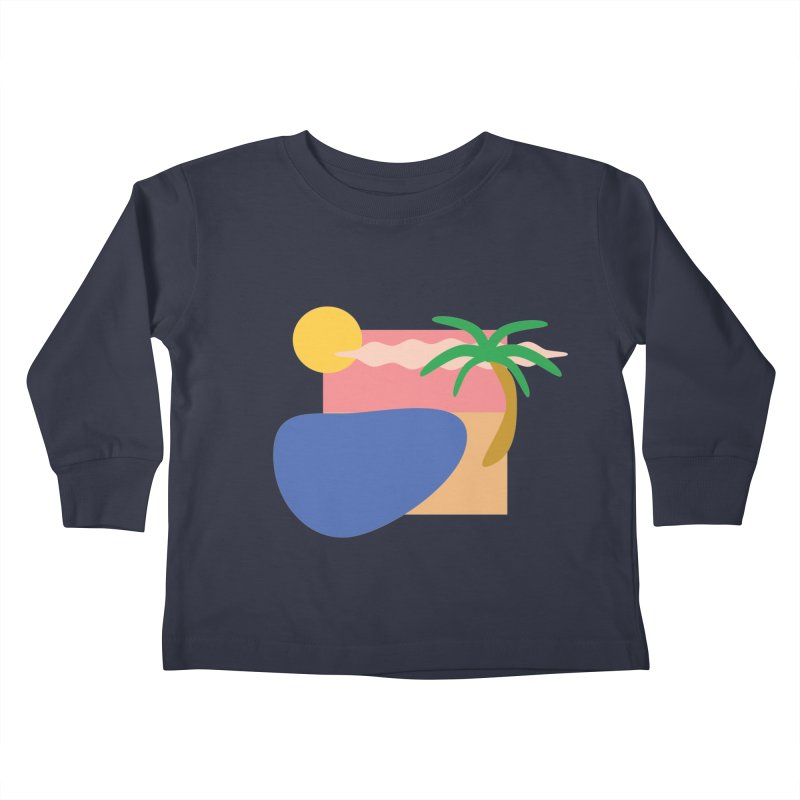 Beach Kids Toddler Longsleeve T-Shirt by TYNICKO Random Randoms Shop