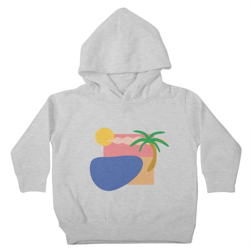 Beach Kids Toddler Pullover Hoody by TYNICKO Random Randoms Shop