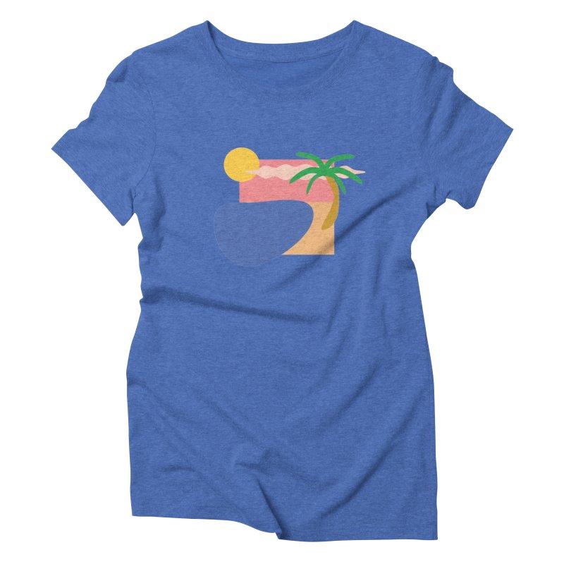 Beach Women's T-Shirt by TYNICKO Random Randoms Shop