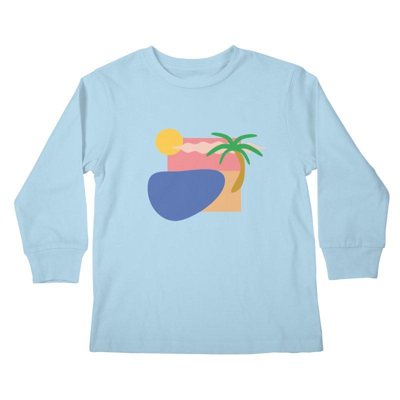 Beach Kids Longsleeve T-Shirt by TYNICKO Random Randoms Shop