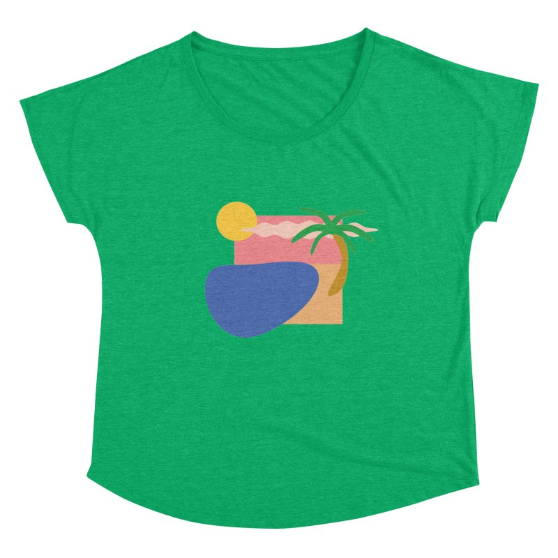 Beach Women's Scoop Neck by TYNICKO Random Randoms Shop