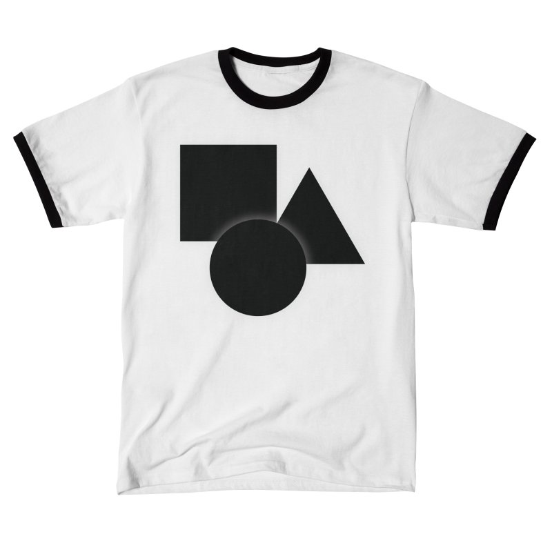 Basic Dark Shapes Men's T-Shirt by TYNICKO Random Randoms Shop